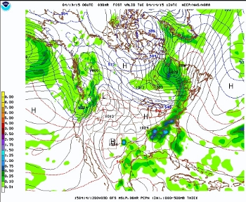 06Z GFS model for Tuesday