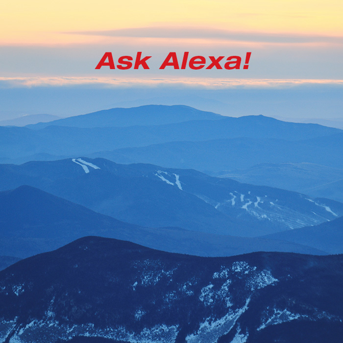 Alexa ask Mount Washington What is the Weather?