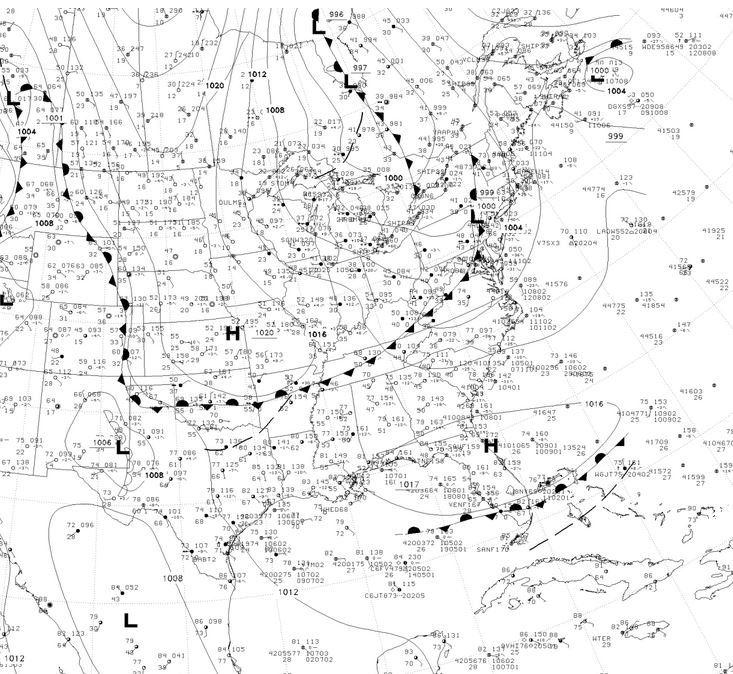 Low pressure moving in last Wednesday