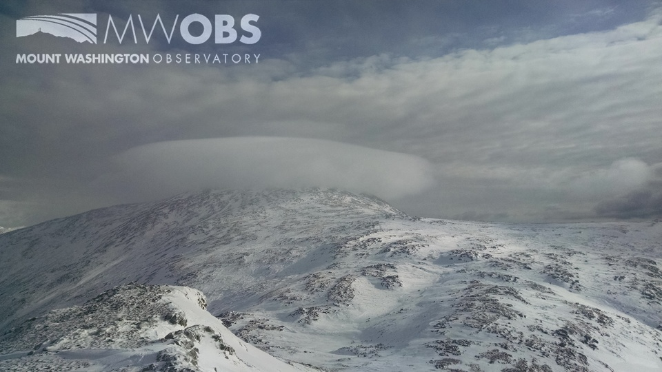 Cap Cloud over Mount Washington NH as seen from Mount Monroe