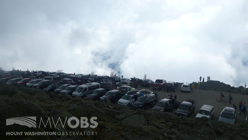 Parking lot on the summit