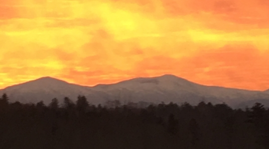 November Sunrise over Mt Washington