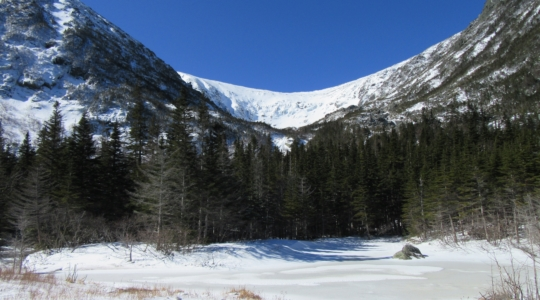 Blue Bird Skies in Tuckerman's Ravine