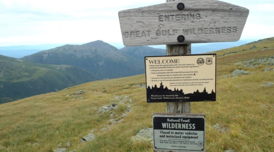Great Gulf Wilderness Signage